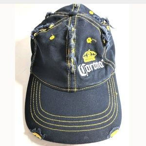 Accessories - 2007 Distressed Corona Mexican Beer Hat Cap Blue